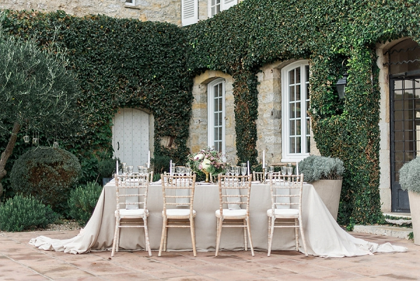 outdoor intimate wedding table
