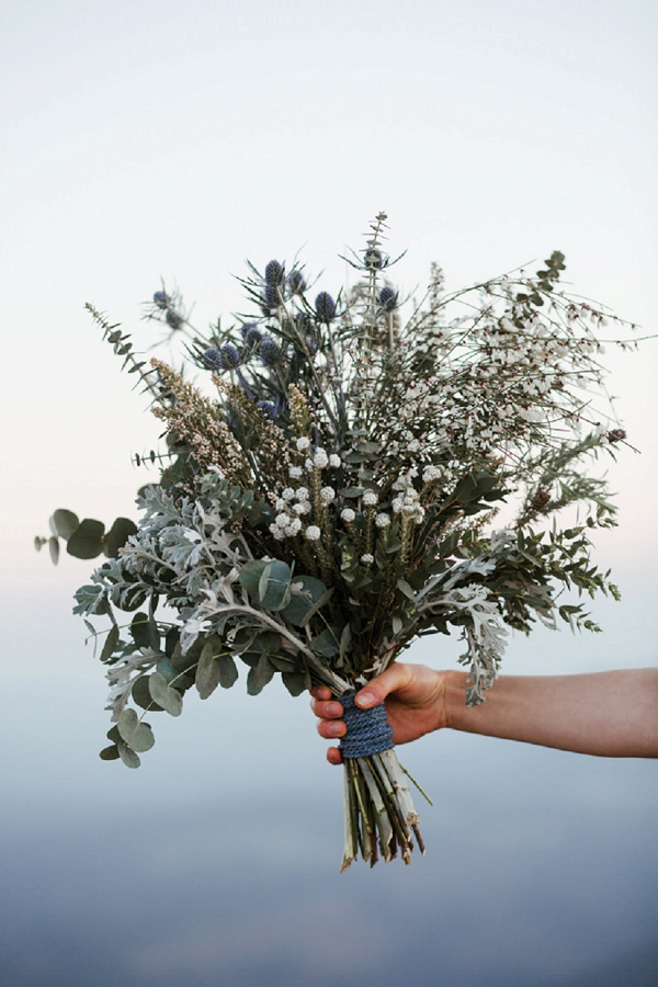 silvery wedding bouquet