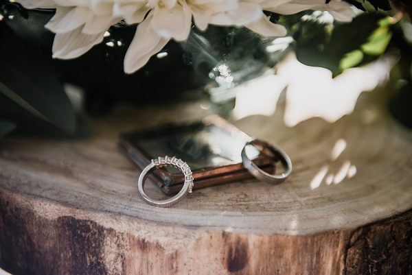 woodland wedding rings