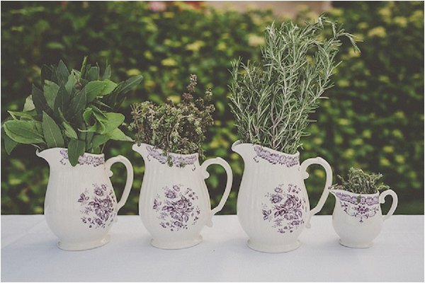 French Country Wedding Herb Bouquet Decor
