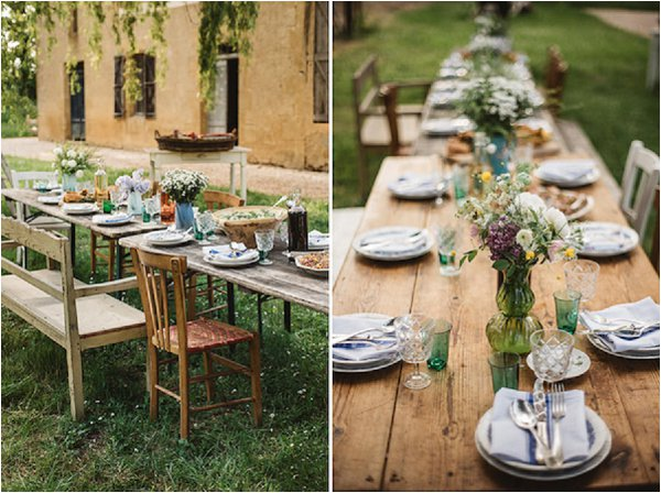 French Country Wedding Rustic Table Decor