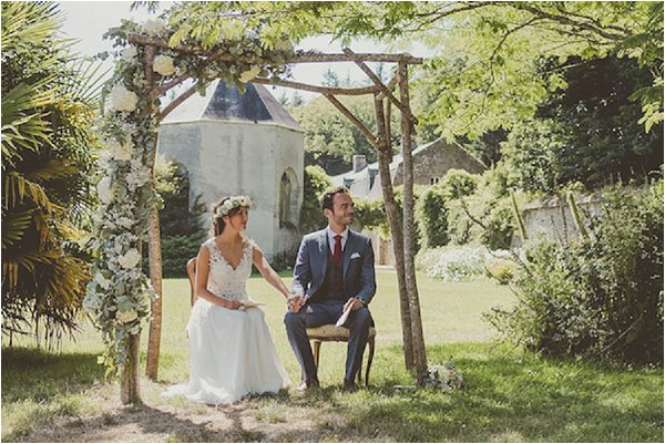 French Country Wedding Rustic Ceremony