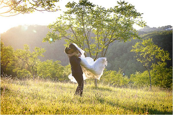 French Country Wedding Sunset Lydia Taylor Jones