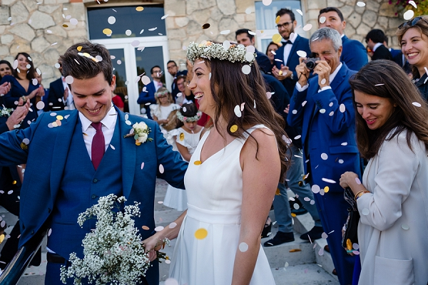 Bordeaux wedding confetti
