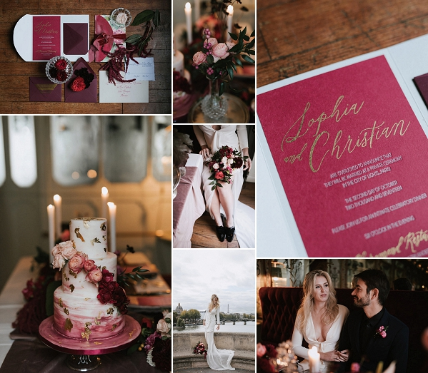 Burgundy Inspired Le Pharamond Wedding Inspo Snapshot