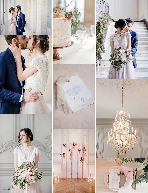 Hôtel de la Tresne Bordeaux Blush Wedding Snapshot