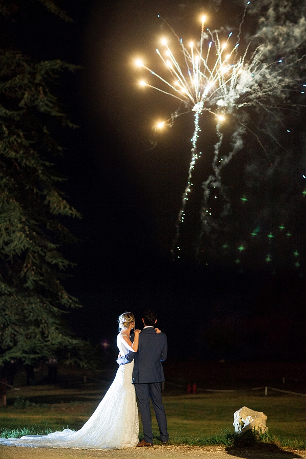 chateau wedding fireworks