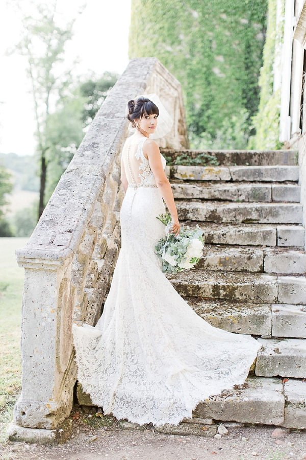 luxury lace wedding dress