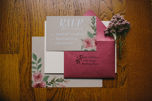rich wedding stationery colours