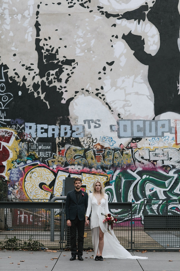 urban inspired wedding shoot