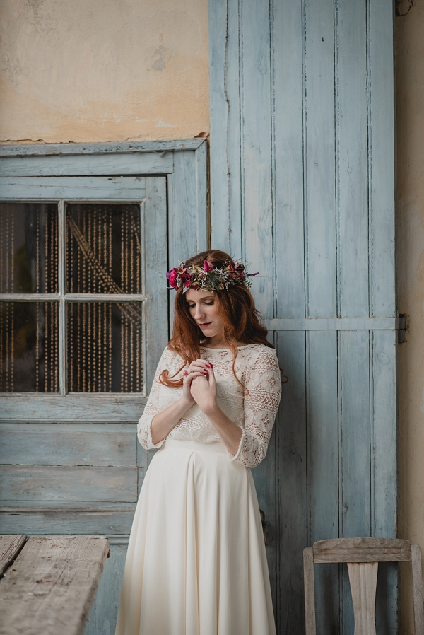wild flower bridal flower crown