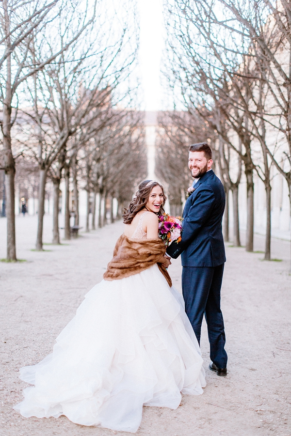 winter Paris elopement
