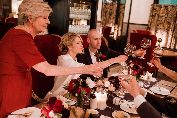 Burgundy themed winter wedding