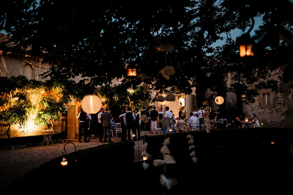 Chateau Soulac outdoor wedding reception