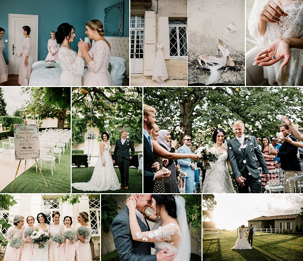 French Countryside Chateau Soulac Wedding Snapshot