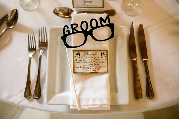 Grooms place setting ideas
