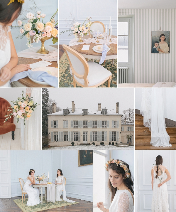 Light and Airy Château de Séréville Wedding Inspiration Snapshot