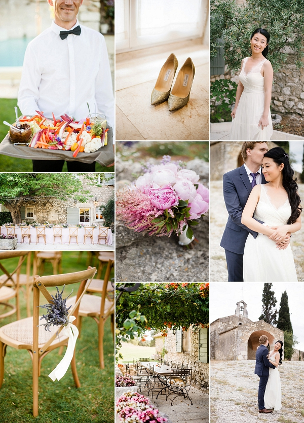 Multinational Provence Destination Wedding Snapshot