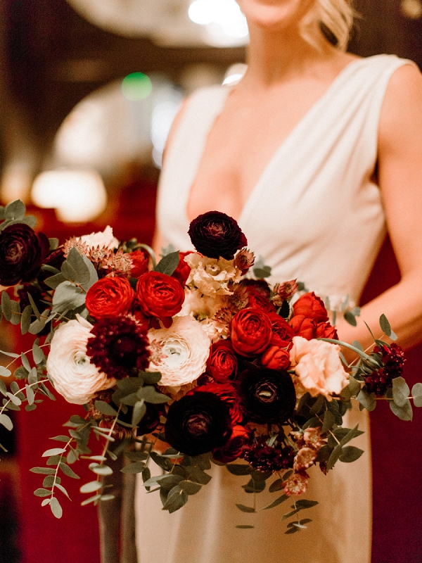 Parisian florist bridal bouquet