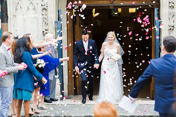 Pink and white wedding confetti