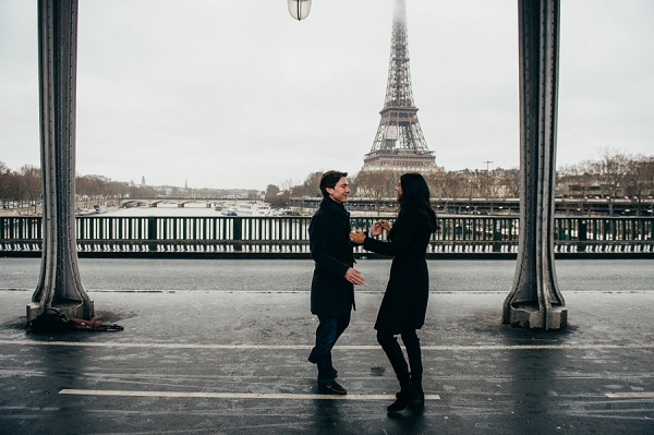Pont de Bir Hakeim surprise engagement