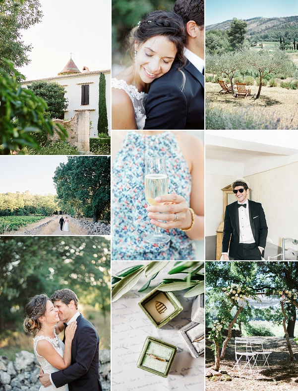 Provence Sun Drenched Destination Wedding Snapshot
