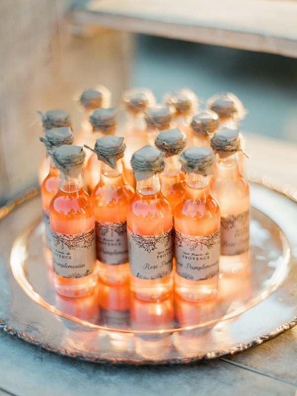 Provence wedding wine favor