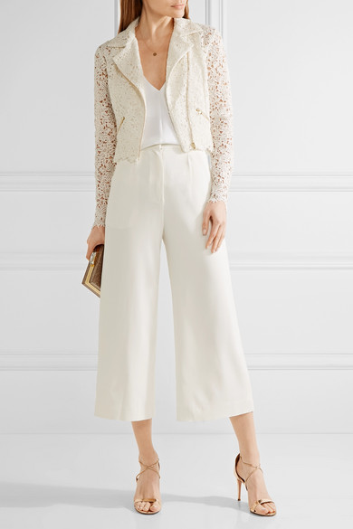 Rime Arodaky cotton blend guipure lace jacket