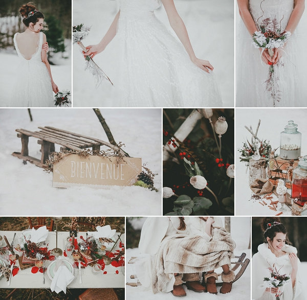 Snowy Winter Wedding Inspiration Shoot Snapshot