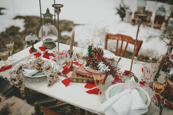 Snowy Winter Wedding Inspiration Shoot