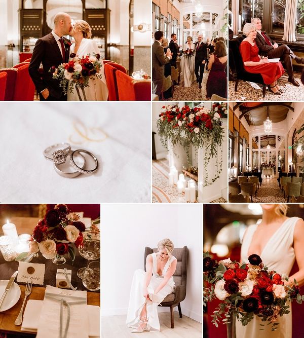 Stylish and Rich Les Climats Winter Wedding Snapshot