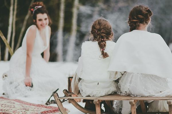 bridesmaids winter wedding