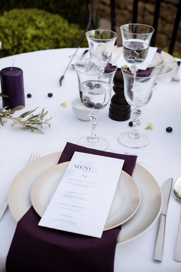 deep purple wedding theme