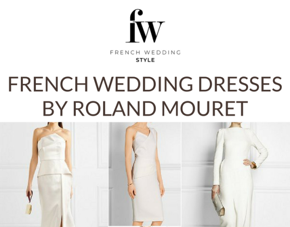 Roland Mouret French Wedding Dresses