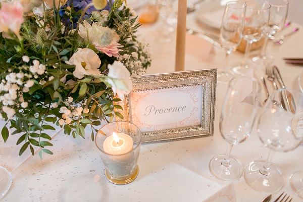 french wedding table names
