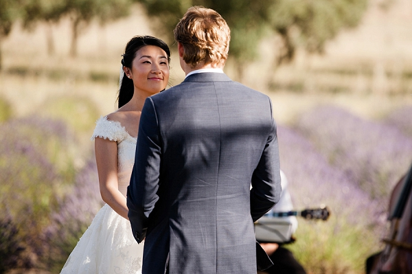 lavender field wedding ceremony