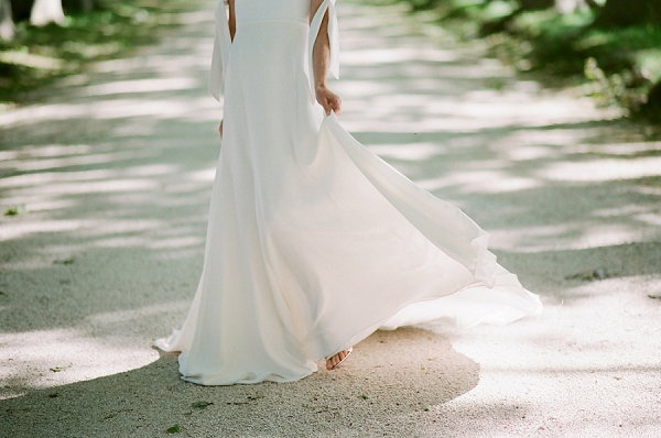 light and airy wedding dress