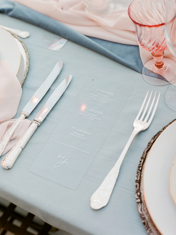 modern wedding menu idea