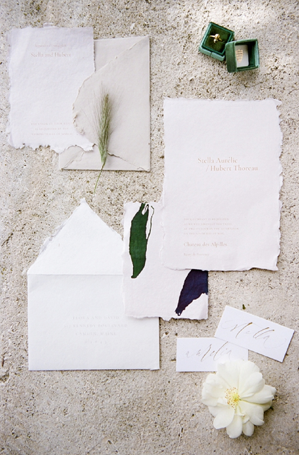 nature inspired wedding stationery