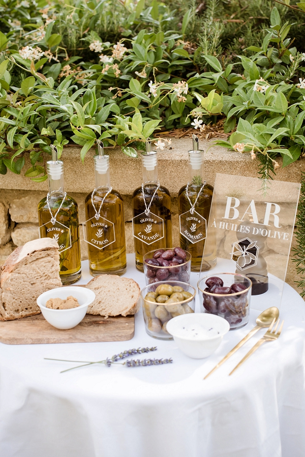 olive bar wedding