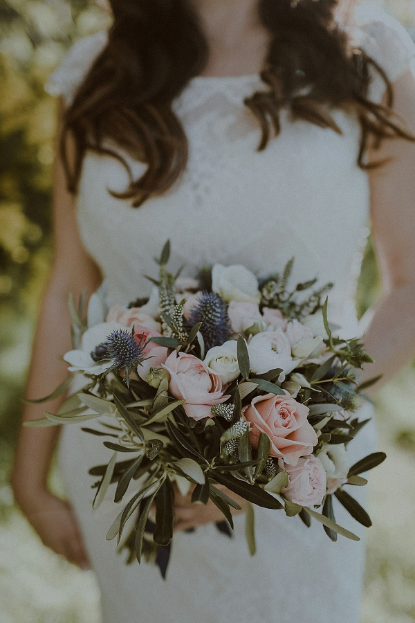 olive branch wedding bouquet