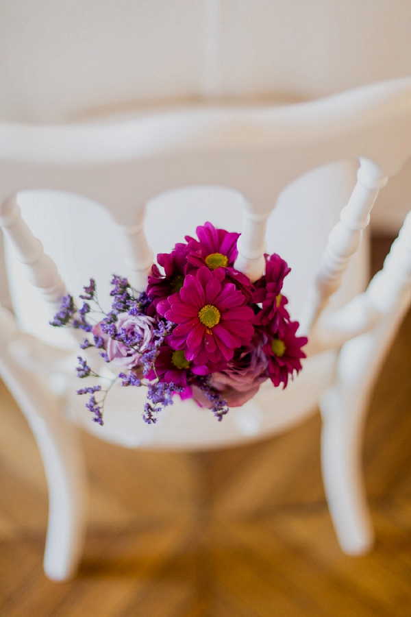 pink and purple wedding flowers
