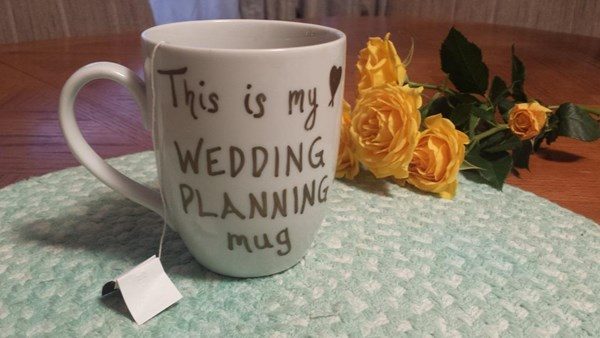 Belle Bride Stephanie and Greg wedding plannig mug