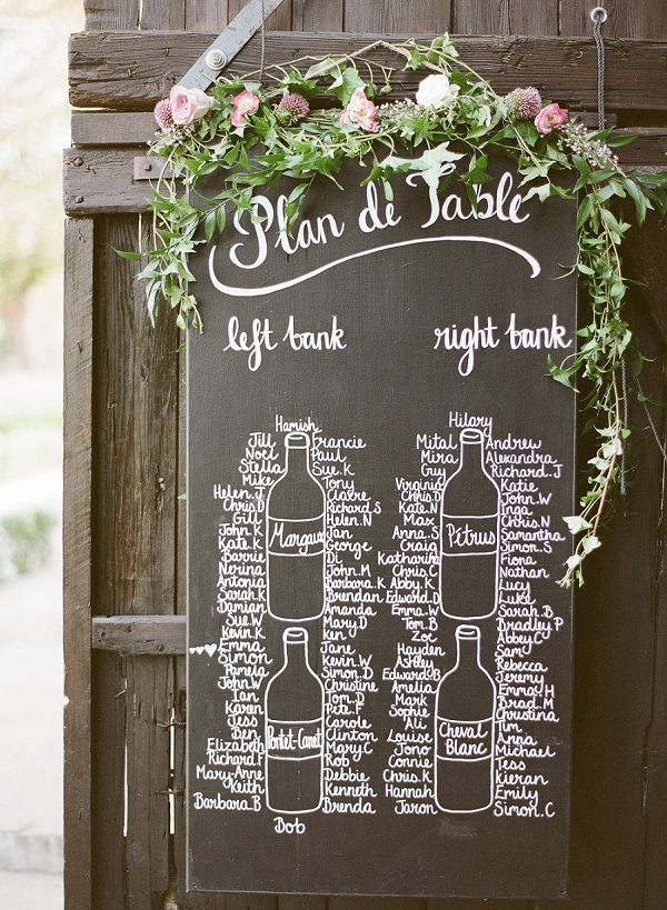 Blackboard wedding table plan