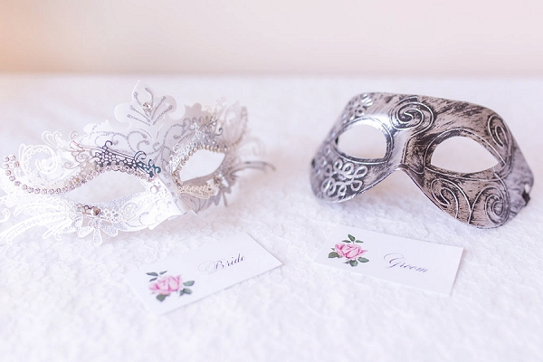 Bride and grrom masquerade masks