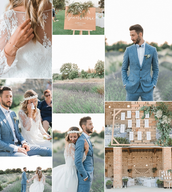 Chic Lavender Field Provence Wedding Snapshot