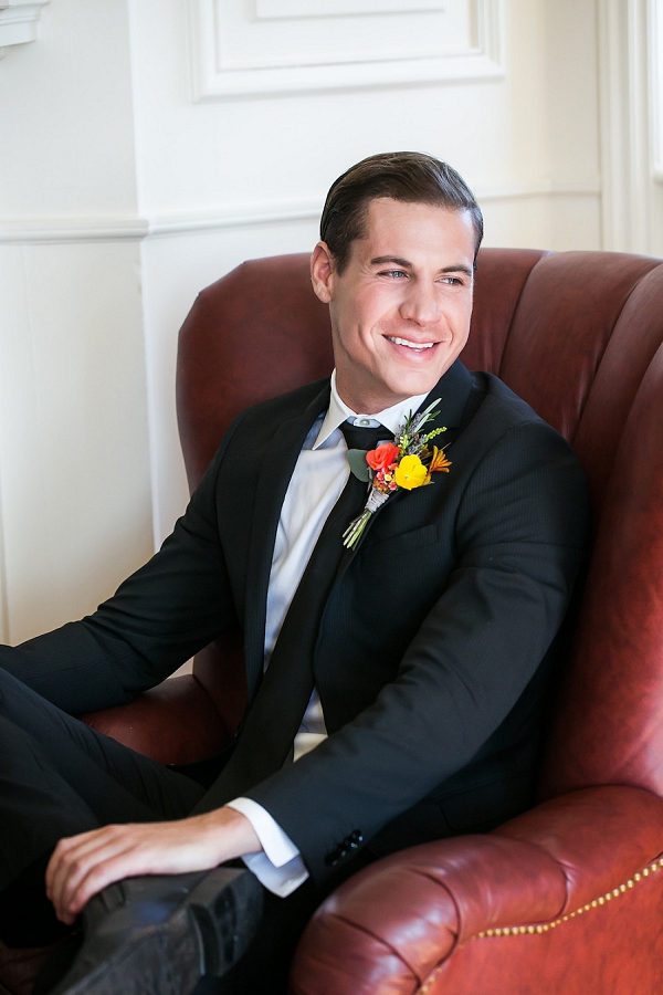 Colourful boutonniere