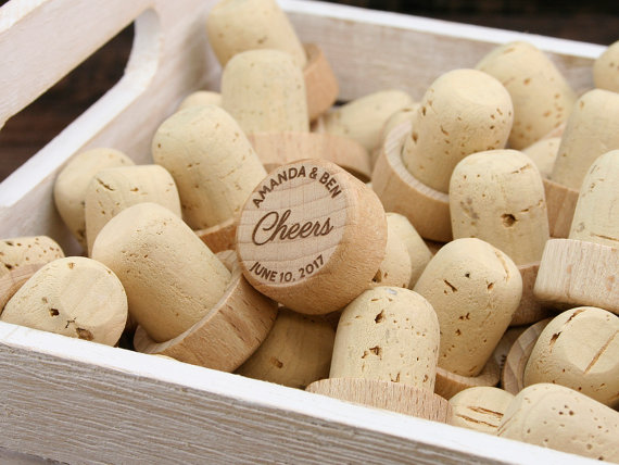Customized Wine Cork wedding favour