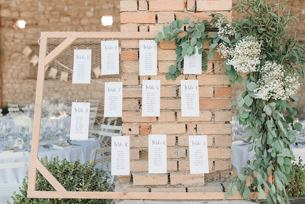 DIY seating plan