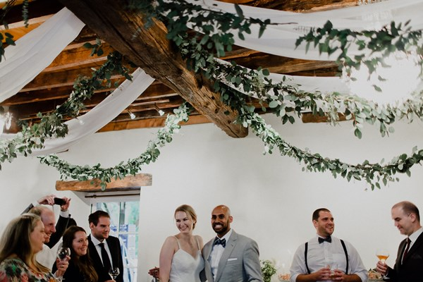 Floral Canopies Draping Foliage
